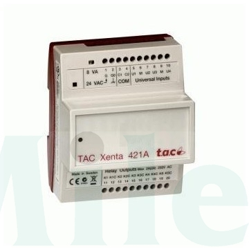 TAC Xenta 421A elektronika, 4 UI, 5 DO